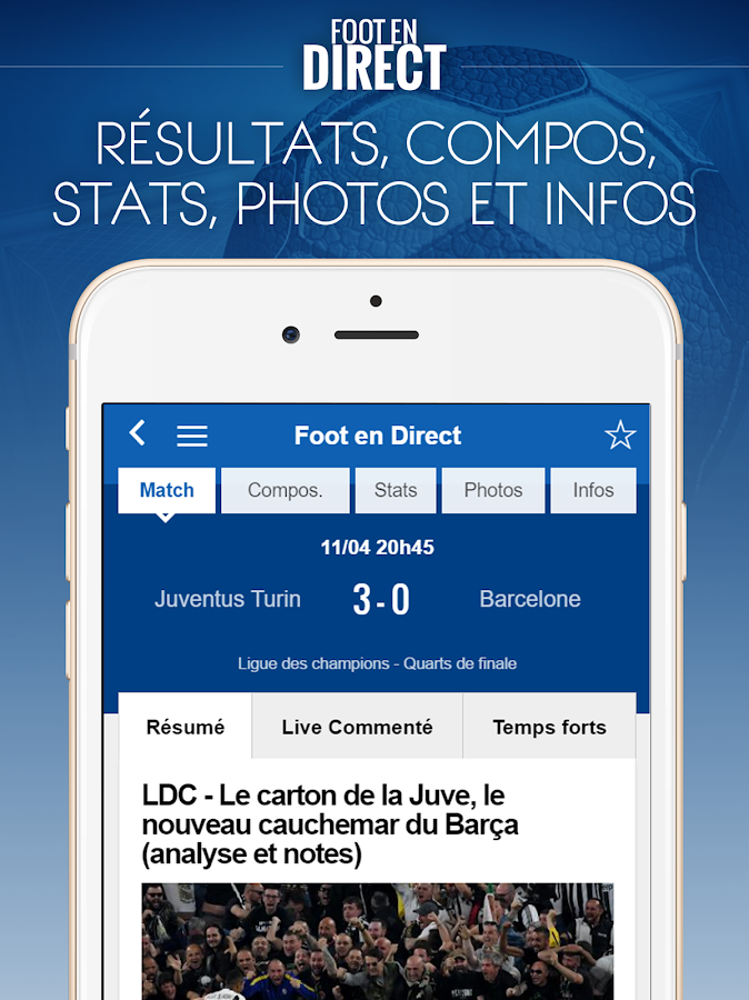 Foot en Direct- screenshot