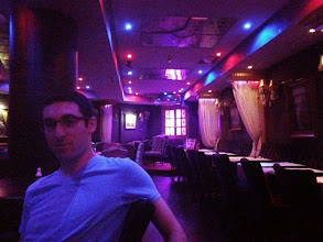 Photo: Matt at our first dinner in Casablanca