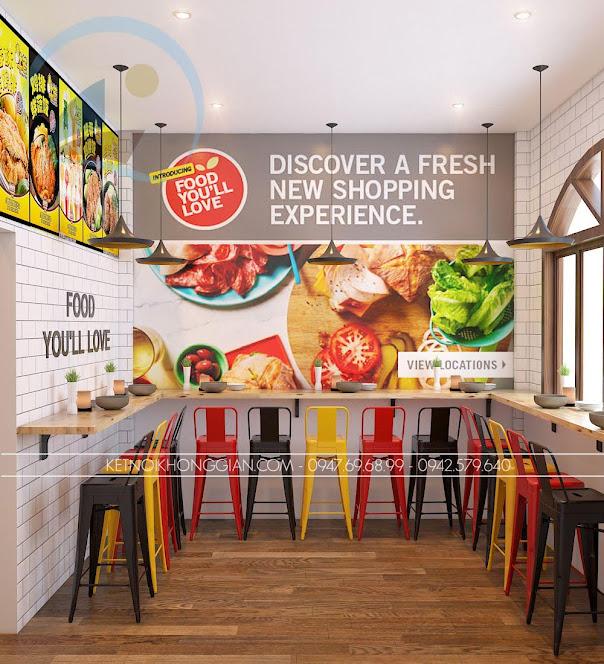 thiết kế cửa hàng gà rán đài loan 6