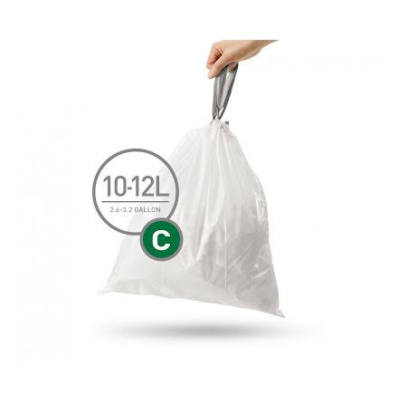 Avfallspåsar till Simplehuman 3 x pack med 20 påsar(60-påsar)  TYP C