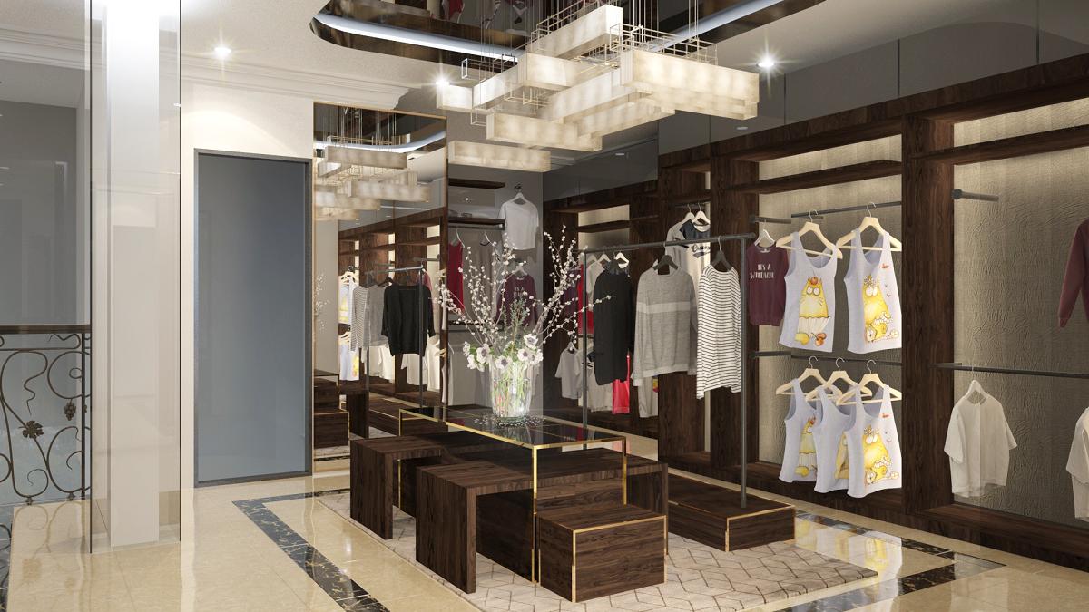 thiết kế shop thời trang sang trọng 19