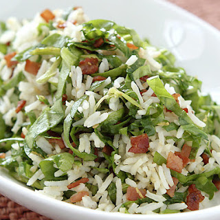 Zesty Spinach Rice with Bacon