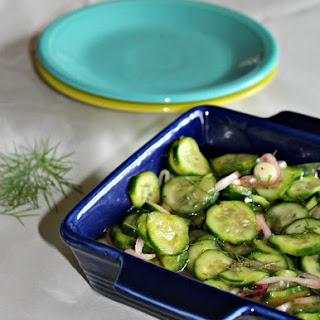 Mom's Cucumbers in Vinegar