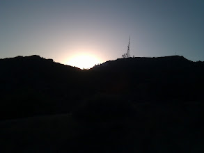 Photo: Sunset at the Hollywood Sign