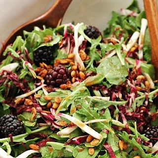 Arugula and Radicchio Salad with Candied Pumpkin Seeds and Apple Cider Vinaigrette Recipe