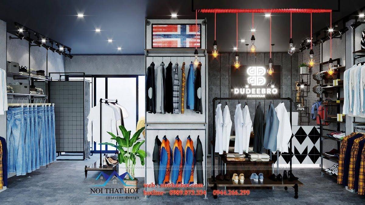 trang trí shop quần áo thời trang