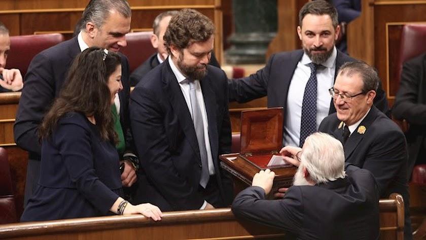 Diputados de VOX en el Congreso. Eduardo Parra- Europa Press