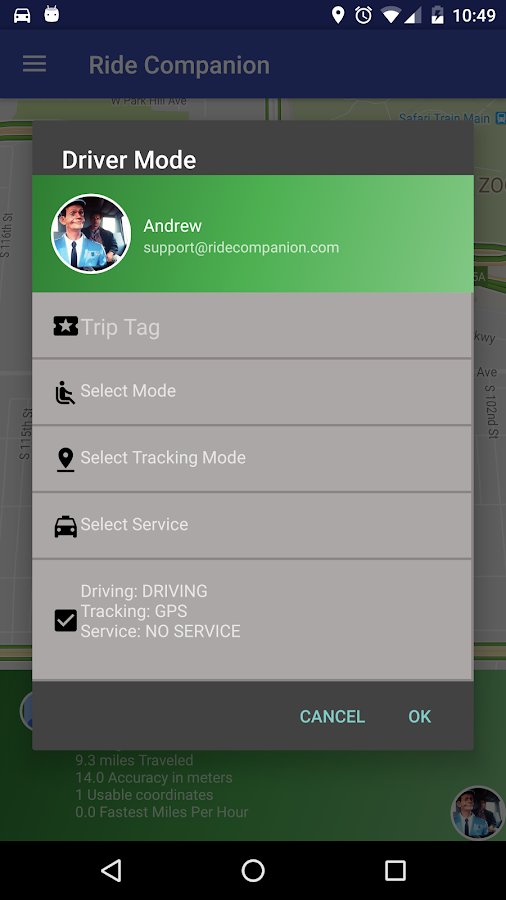 Ride Companion for Pro Drivers- screenshot