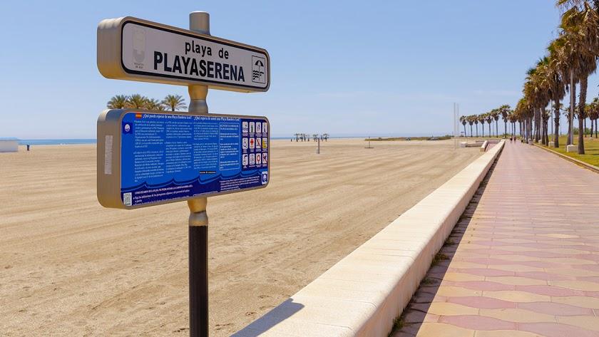 Imagen de Playa Serena, en Roquetas de Mar.