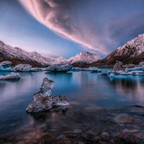 Glacier @ Lake Tasman by Gordon Koh - Landscapes Mountains & Hills