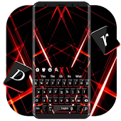 Red Laser Threads Keyboard