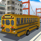 Blocky School Bus Simulator Craft