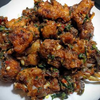 Gobi Manchurian (Dry Cauliflower Manchurian).