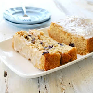 Pina Colada Bread with Blueberries.