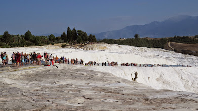 Photo: Walking down the terracing. The pools were pretty shallow, but you could pause and swim a bit along the way.