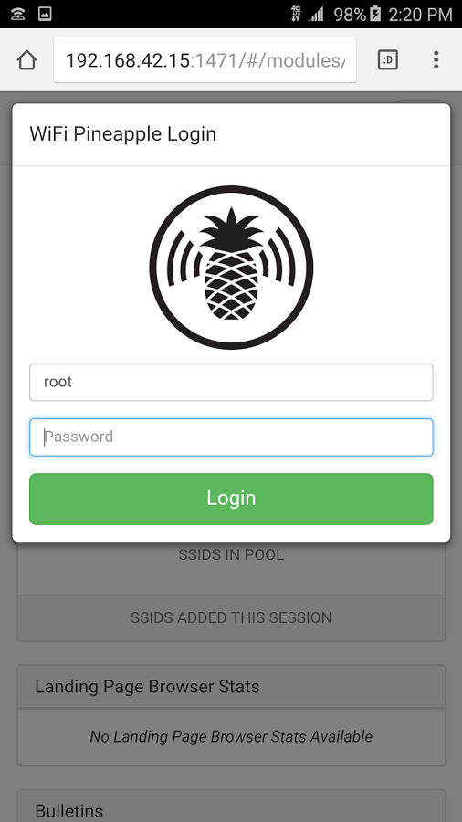WiFi Pineapple Connector- screenshot