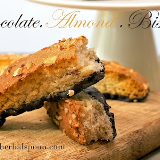 Chocolate Almond Biscotti – Gluten and Dairy Free.