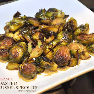 Balsamic Oven Roasted Brussels Sprouts.