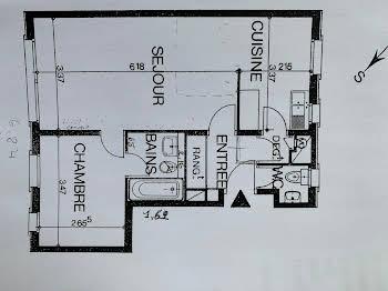 Appartement 2 pièces 47,37 m2