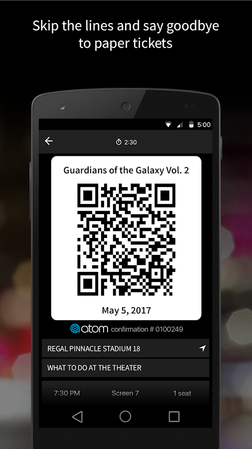 Atom Tickets- screenshot