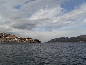 Photo: The island is on the left side and the coastline of Croatia is on the right - only a mile or so apart.