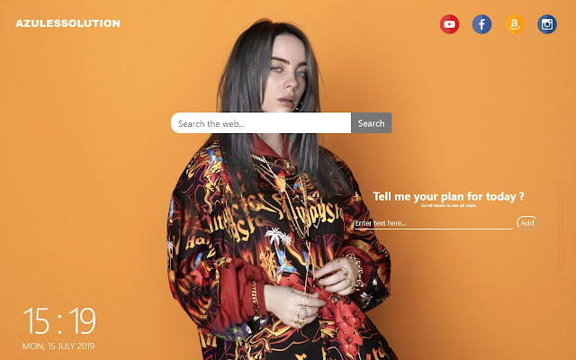 Billie Eilish Wallpaper - New Tab Theme