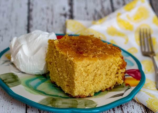 Pineapple Brown Sugar Pound Cake Upside Down Recipe