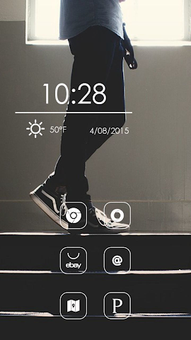 android Blue Jeans Theme Screenshot 2