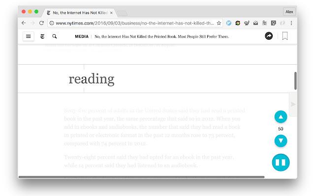 SplashReader: Speed Reading with Breaks