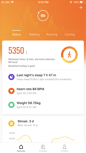 Mi Fit screenshot 1