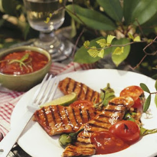 Grilled Pork with Tomato Sauce