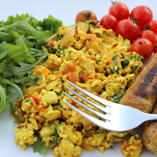 Scrambled Tofu With Rocket.