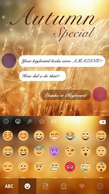 Autumn Special iKeyboard Theme - screenshot
