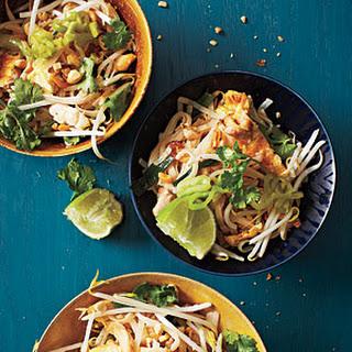 uncooked flat rice noodles (pad Thai noodles)