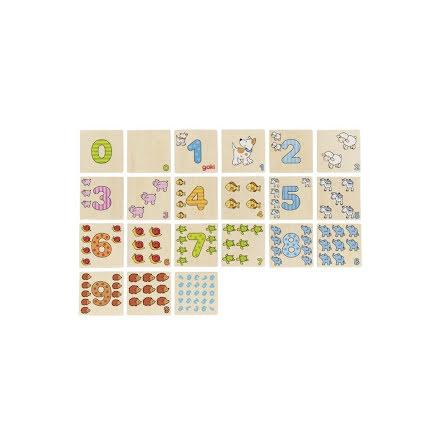 Memoryspel i trä 20 bitar