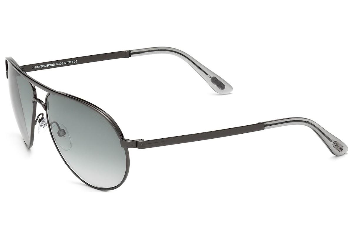 7513f37721757 Sunglasses Tom Ford Marko FT0144 C58 08B (shiny gumetal   gradient smoke)