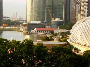 Photo: 007-Le Marina Mandarin à Singapour. La vue de la chambre sur la Marina