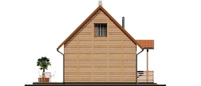 D80 - Filip wersja drewniana - Elewacja prawa