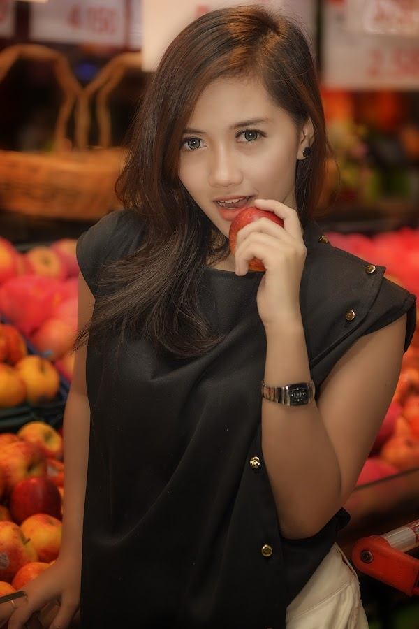 Wanna a bite? by Agung Hendramawan - People Portraits of Women ( #modelcitizenmedia, $girls, #model, #portrait )