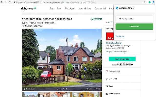 Rightmove Property Address Finder