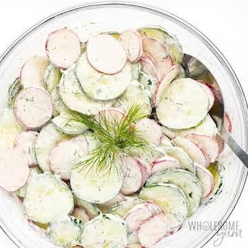 Creamy Cucumber Radish Salad Recipe | Wholesome Yum