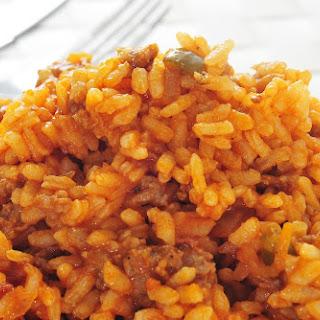 Spanish Rice & Beef.