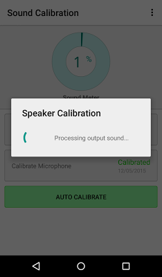 Sound Calibration - screenshot