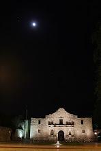 Photo: Full moon over the Alamo