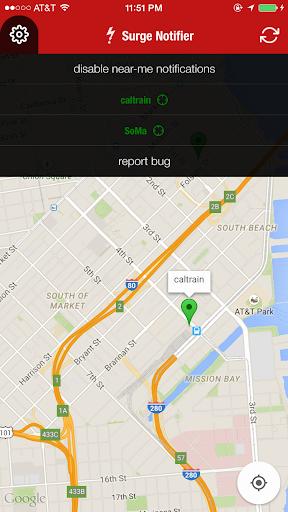 Uber Surge Notifier