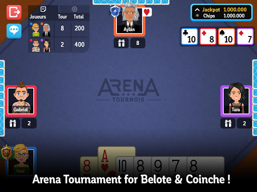 Multiplayer Belote & Coinche  gameplay | by HackJr.Pw 7