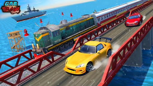 Car Vs Train - Racing Games