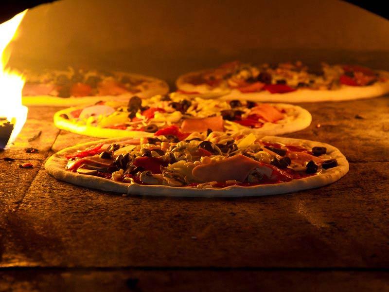 horneado de pizza