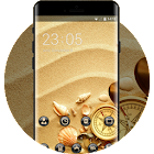 Sandy theme compass shells sand wallpaper icon