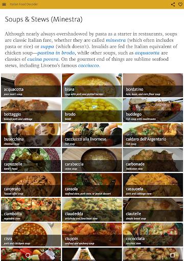 Italian Food Decoder screenshot 16